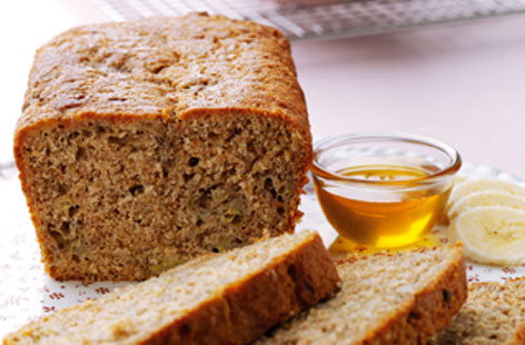 Banana & honey breakfast loaf