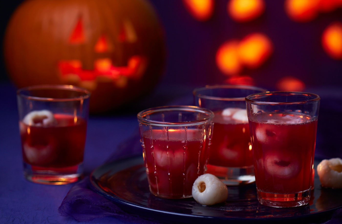 bat's blood punch with dragon eyes | tesco real food