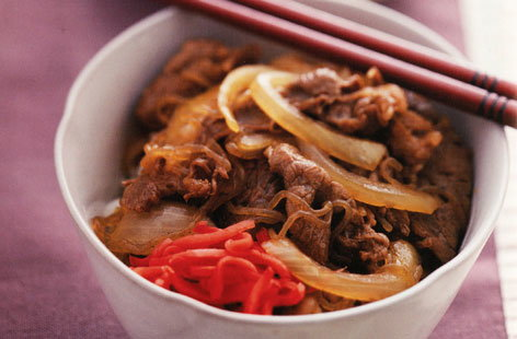 Beef on rice
