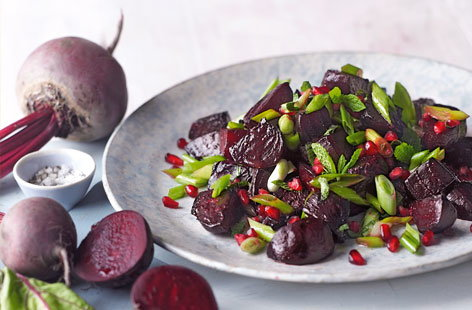 Beetroot with spring onion and pomegranate HERO