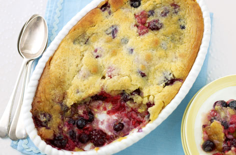 Berry slump with clotted cream THUMB
