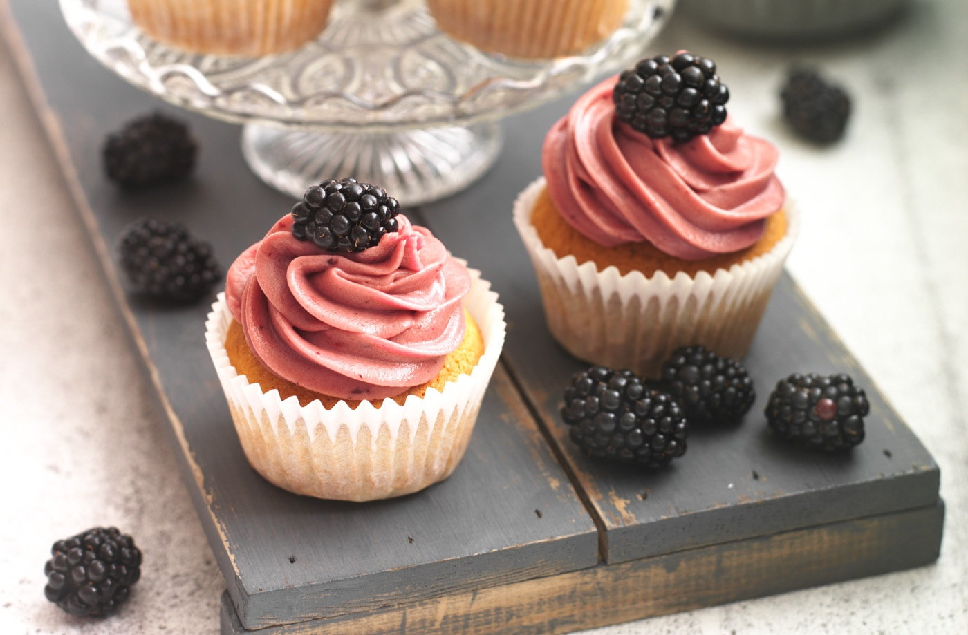 Blackberry cupcakes recipe