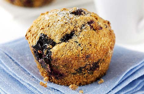 Bursting with anti-oxidant-packed blueberries, this light and moist bake is a healthier alternative to a traditional blueberry muffin and perfect for a lunchbox or snack.