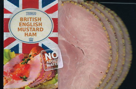 British English Mustard Ham nis hero