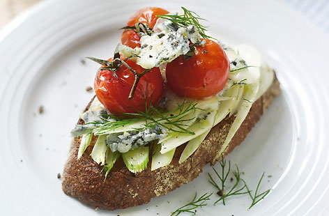 Bruschetta topped with fennel blue cheese and tomato thumb daba0157 f657 4fba 8fc1 2cecf3415ce7 0 146x128