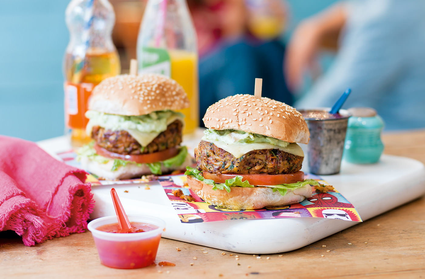 Mexican Bean Burgers With Guacamole