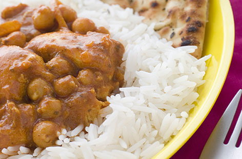 Chicken curry with chickpeas
