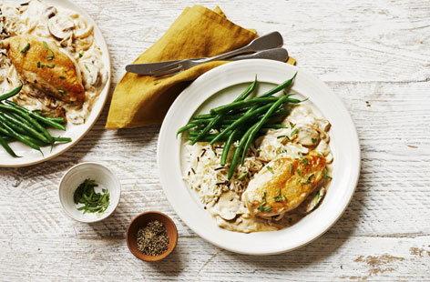 Chicken With Mushroom Sauce Chicken Recipes Tesco Real Food