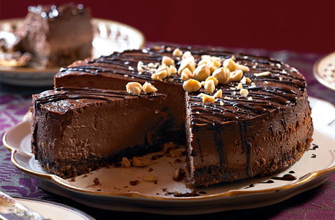 Light-as-air chocolate hazelnut cheesecake | Tesco Real Food
