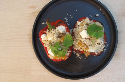 COUSCOUS AND FETA STUFFED PEPPER