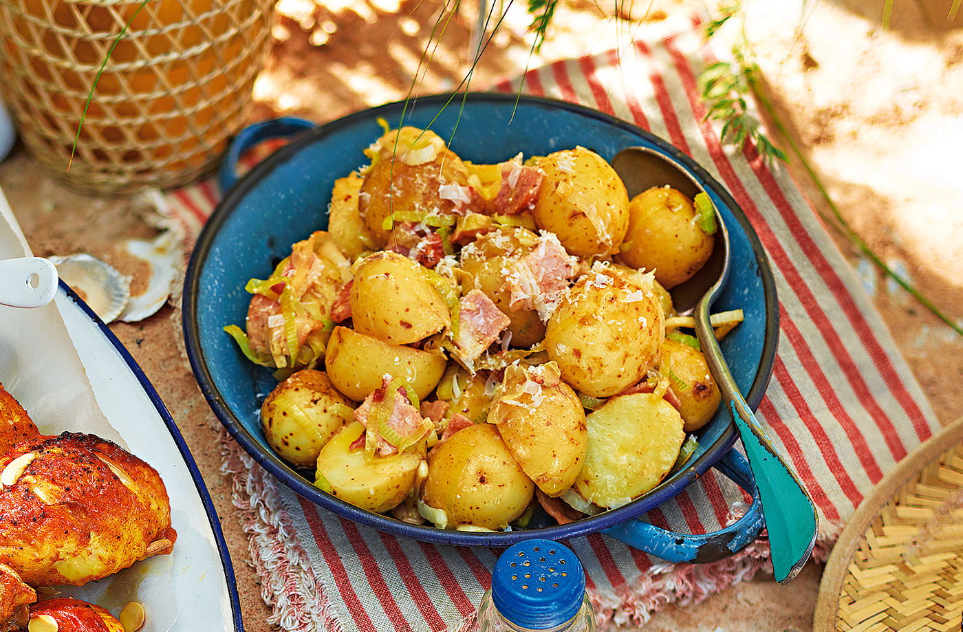 Caesar-style potato salad recipe