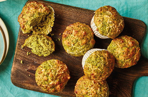 These healthy, savoury muffins will make a great snack for the whole famil