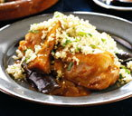 Chicken, harissa and aubergine tagine thumb