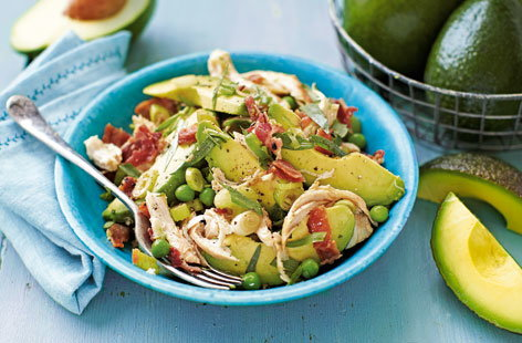 Chicken, avocado, bacon and tarragon salad