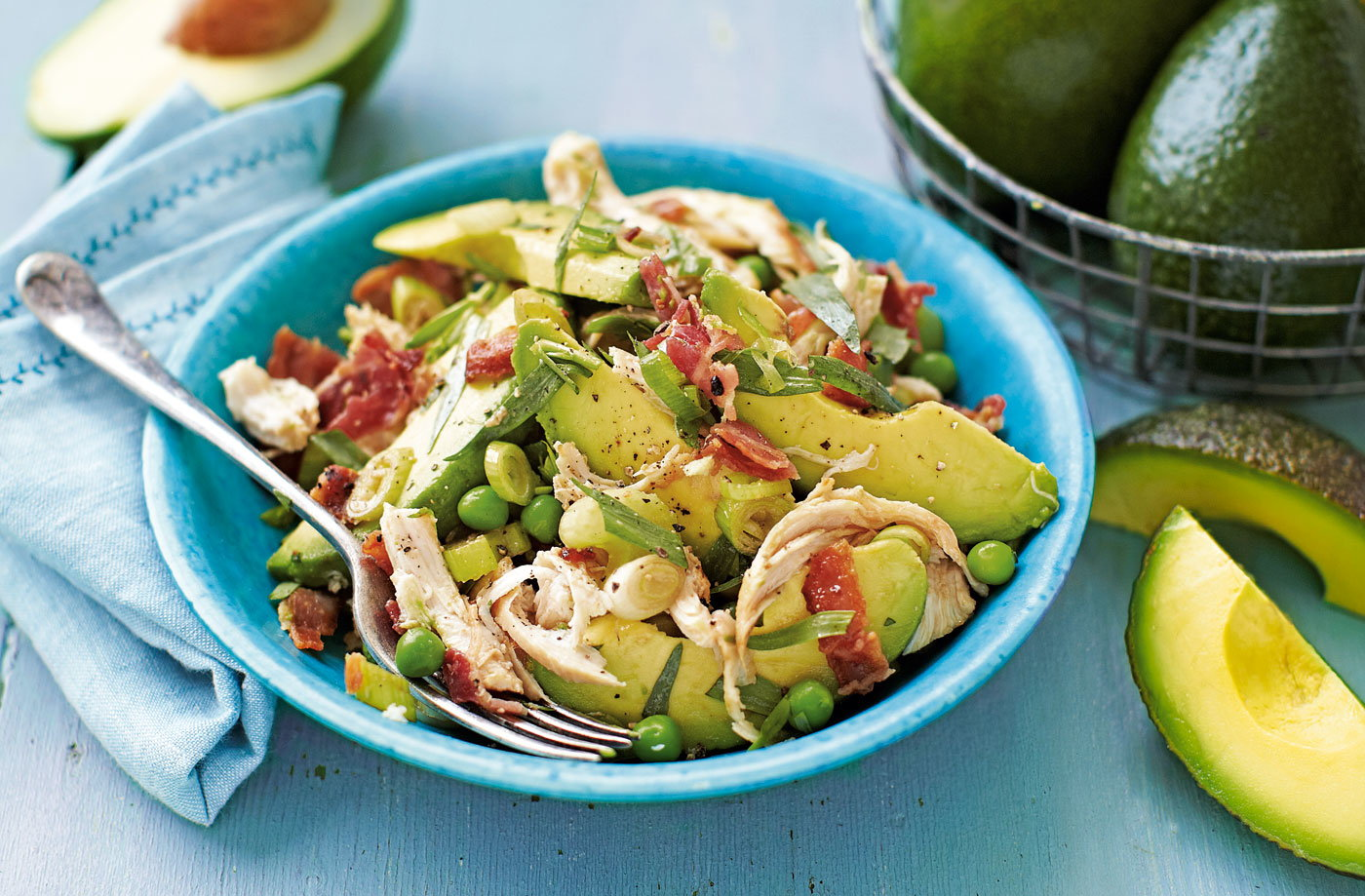 Chicken, avocado, bacon and tarragon salad recipe