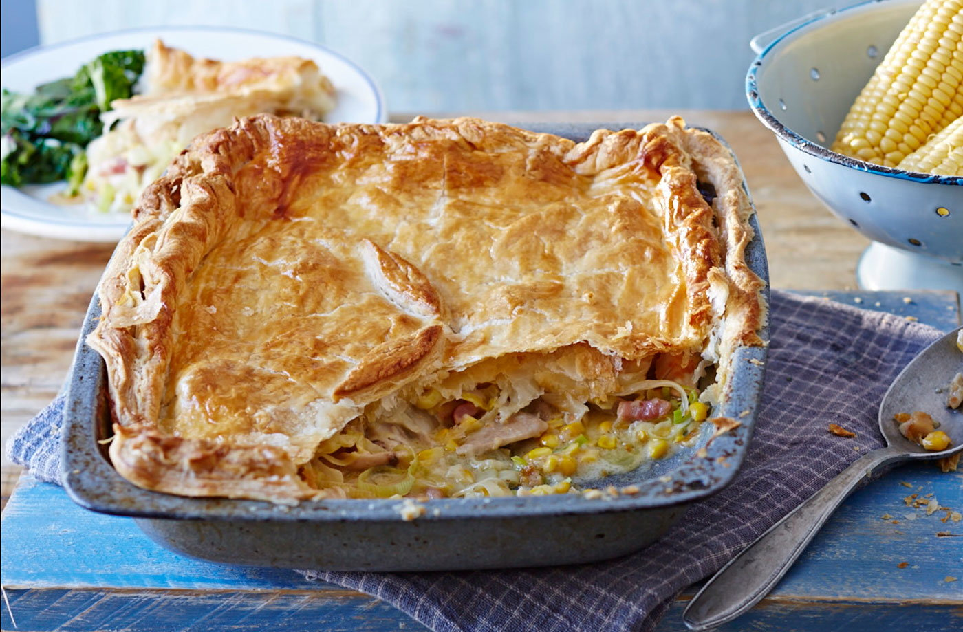 Chicken and sweetcorn pie recipe