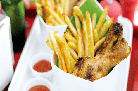 Chicken drumsticks and chips hero f01b4a1f 42ab 4472 8768 dc78e3bf91c4 0 472x310
