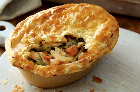 Butternut squash and chicken pies