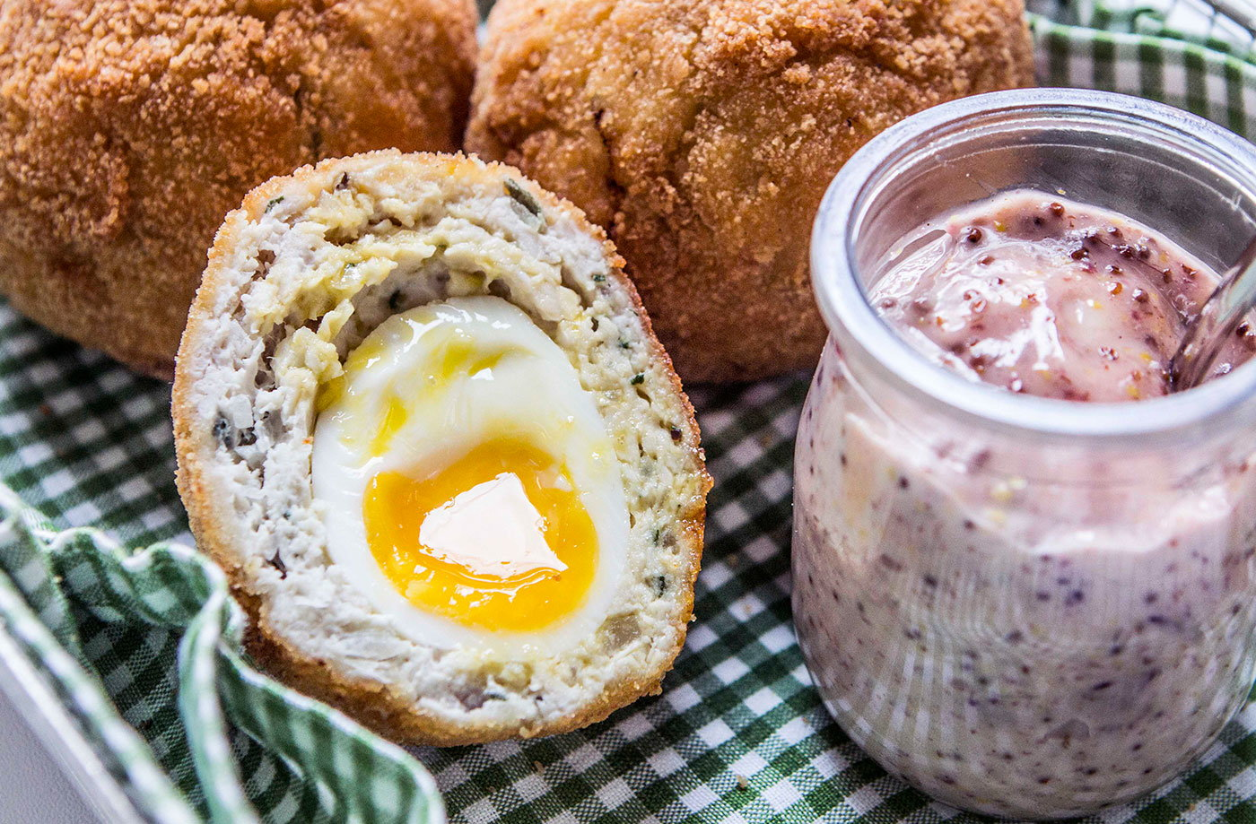 Chicken scotch eggs tesco real food chicken scotch eggs recipe forumfinder Image collections
