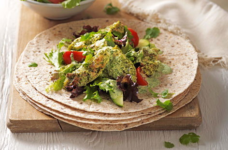 Enjoy Britain's favourite Indian dish - chicken tikka masala - but in a delicious on-the-go lunch wrap