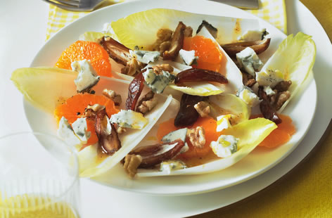 Chicory, satsuma and date salad