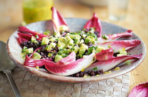 Chicory and lentil salad (H)