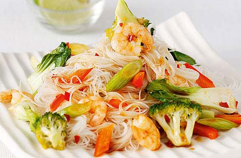 Chilli prawn stir fry