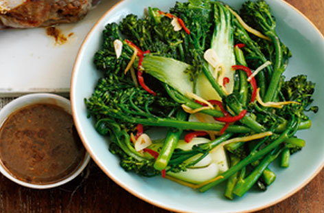 Chilli and ginger broccoli and pak choi HERO