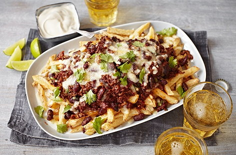 Chilli cheese fries (T)