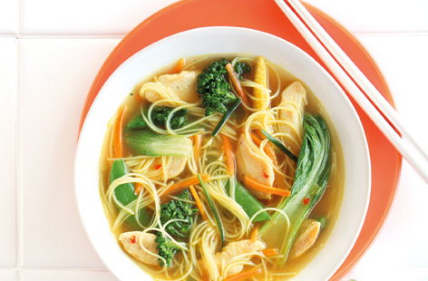 Chinese Chicken Noodle Broth Tesco Real Food