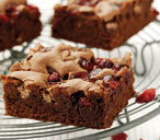 Chocolate & cranberry brownies