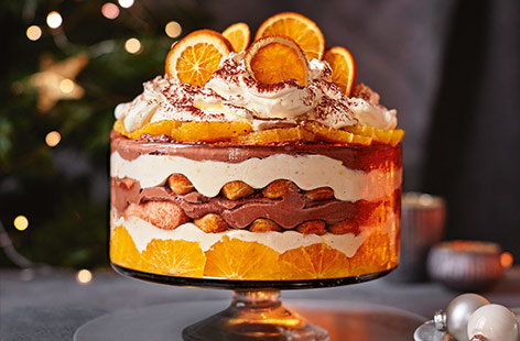 Chocolate orange tiramisu trifle