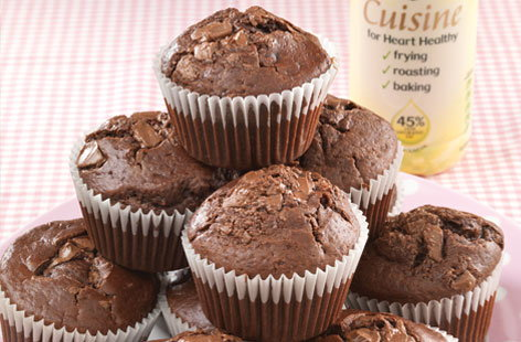 Chocolate raisin muffins HERO