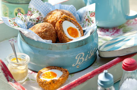 Chorizo Scotch eggs HERO