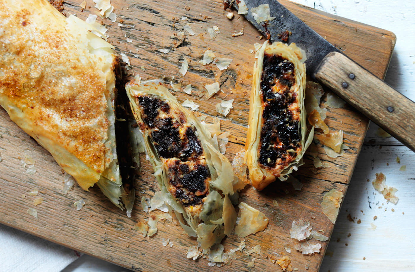 Christmas pudding strudel recipe