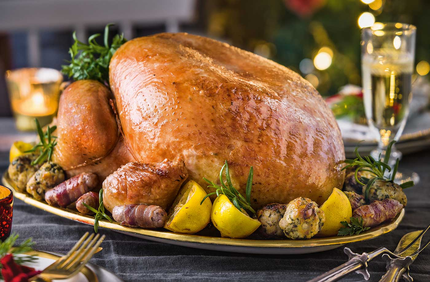 Classic roast turkey with pork and parsley stuffing recipe