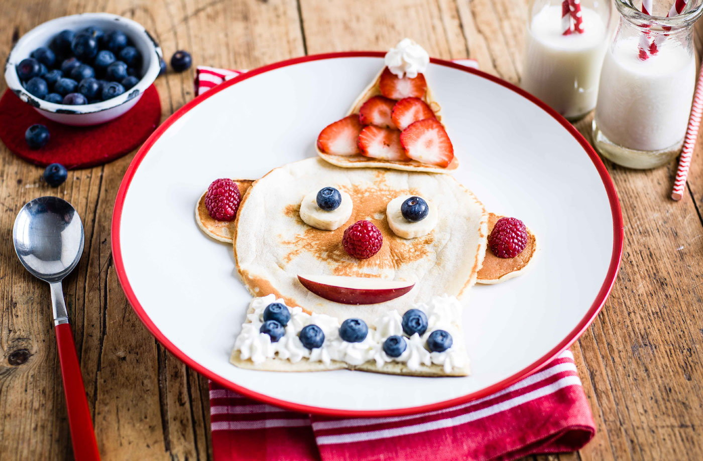 Clown pancake face recipe