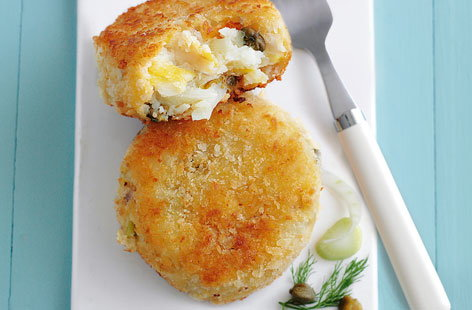Cod fennel and caper fishcakes THUMB