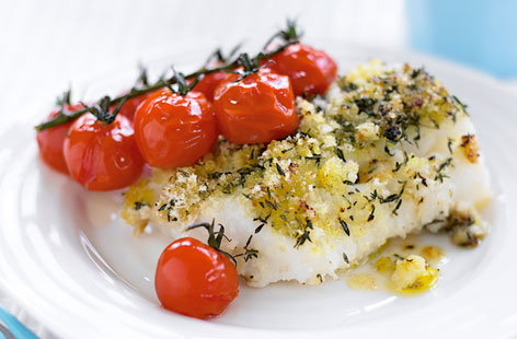 Cod with tomatoes thumb
