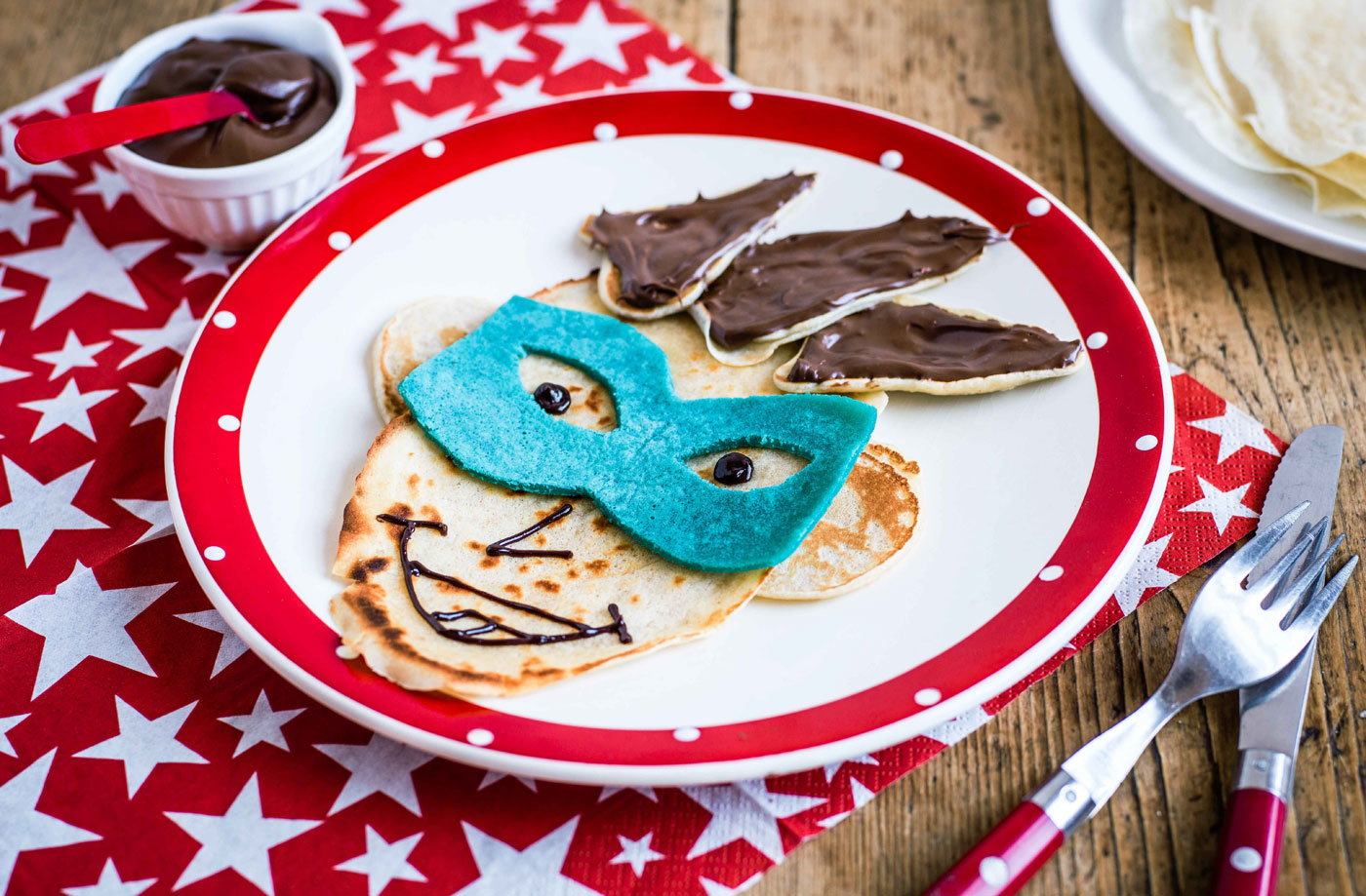 Comic book villain pancake face recipe