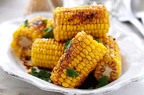 Corn with maple drizzle