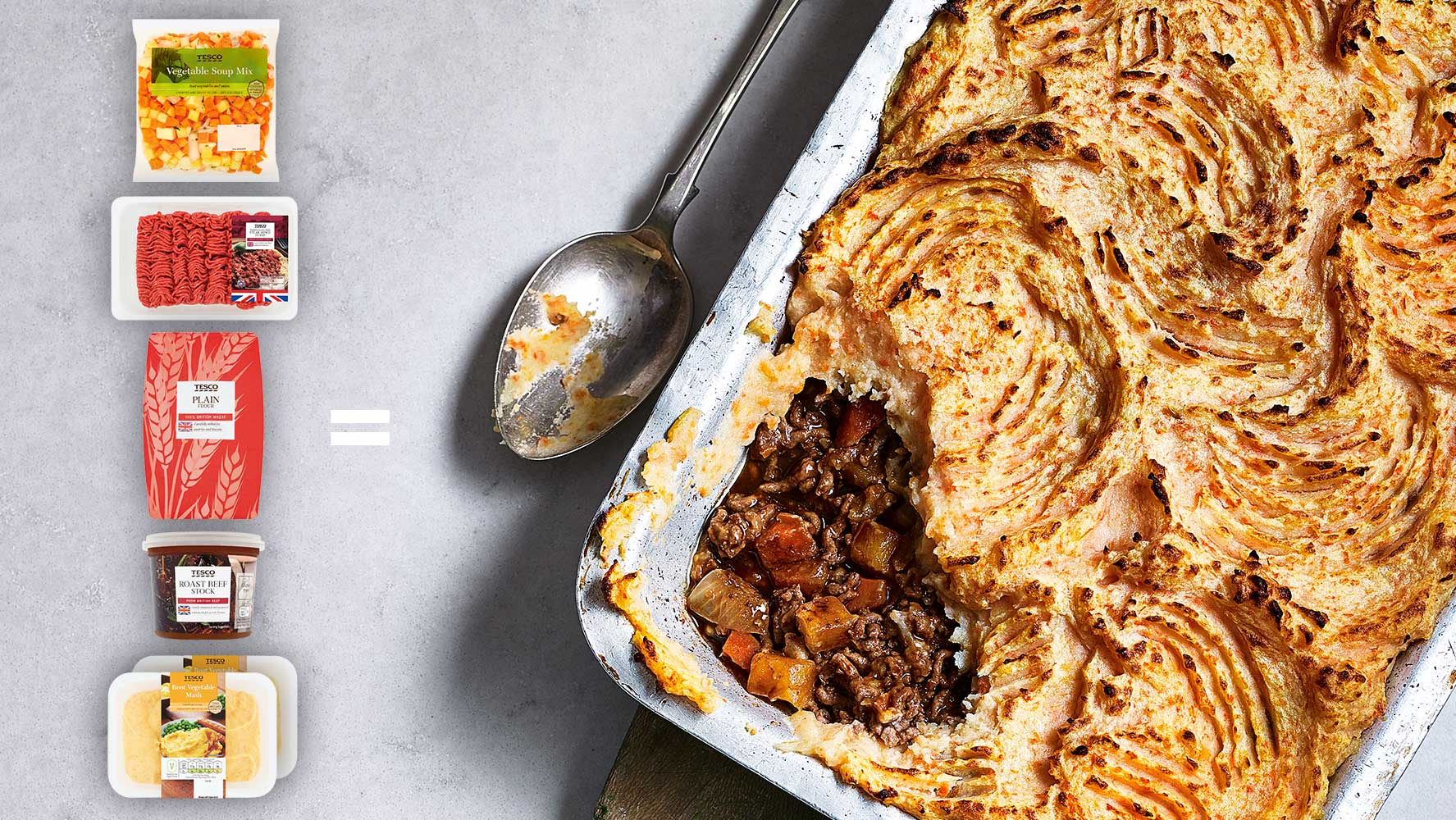5-ingredient – Cottage pie with root vegetable mash