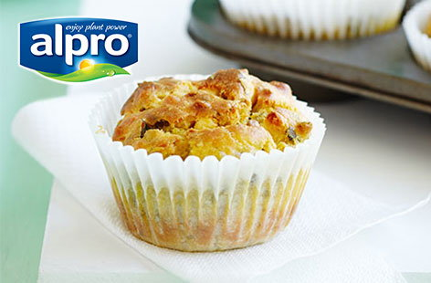 Courgette, Feta and Almond Muffins with LOGO