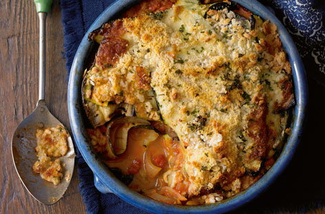 Courgette and aubergine parmigiana HERO