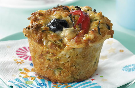 Courgette and Cheddar cheese muffins recipe