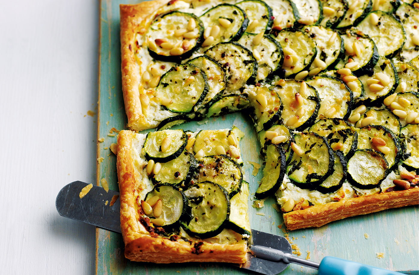 courgette basil and ricotta tart with pine nuts tesco