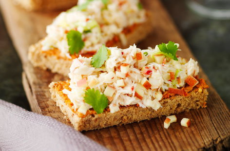 Crab and apple toasties | Tesco Real Food