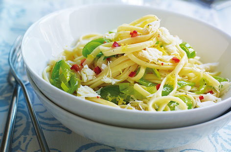 Crab chilli and leek linguine THUMB