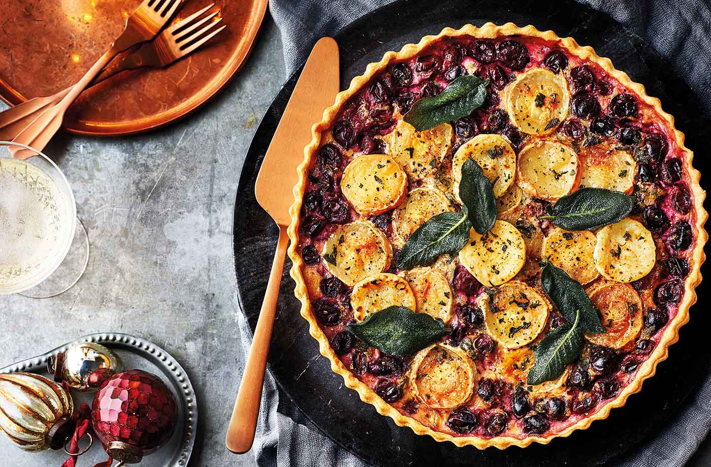 Cranberry and goat's cheese tart recipe