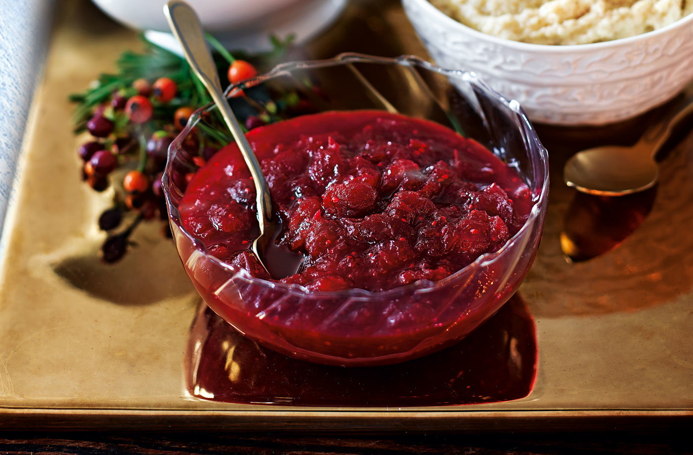Cranberry, port and orange relish recipe